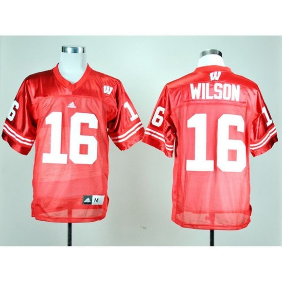 Wisconsin Badgers Russell Wilson Red Jersey